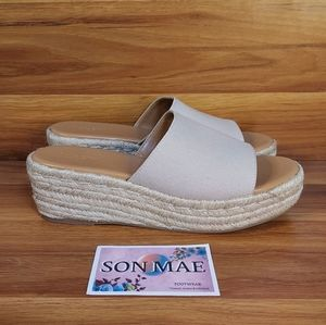 J. Crew Women's Espadrille Wedge Mule Wedges AX841 color Flax size 10.5